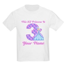 3rd Birthday Princess Blonde T-Shirt