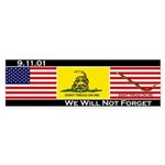 3-Flags Bumper Sticker