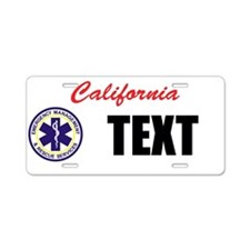 California EMS Custom License Plate