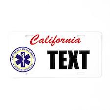 California EMS Custom License Plate