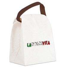 La Dolce Vita Canvas Lunch Bag