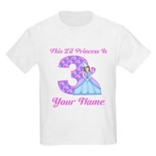 3rd Birthday Princess Brunette T-Shirt