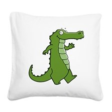 Later Gator Square Canvas Pillow