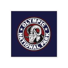 "Olympic Ram Circle Square Sticker 3"" x 3"""
