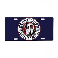 Olympic Ram Circle Aluminum License Plate