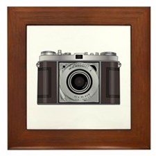 Retro Camera Framed Tile