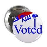 "Kiss Me, I Voted 2.25"" Button"