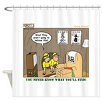 Caving Shower Curtain