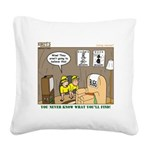 Caving Square Canvas Pillow