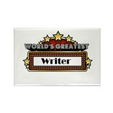 World's Greatest Writer Rectangle Magnet