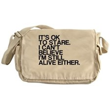 Old, OK To Stare, Funny Messenger Bag