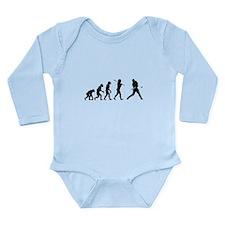 Baseball Evolution Long Sleeve Infant Bodysuit