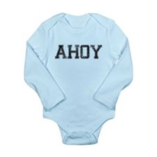 AHOY, Vintage Long Sleeve Infant Bodysuit