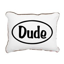 Dude Oval Rectangular Canvas Pillow