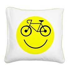 Smiley Cycle Square Canvas Pillow