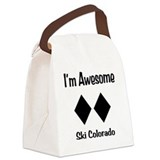 I'm Awesome Ski Colorado Canvas Lunch Bag
