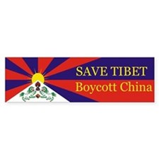 Save Tibet Boycott China Bumper Bumper Sticker