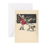 fox terrier holiday Greeting Cards (Pk of 10)