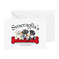TeddyBear Schnoodle Logo Greeting Cards (Package o