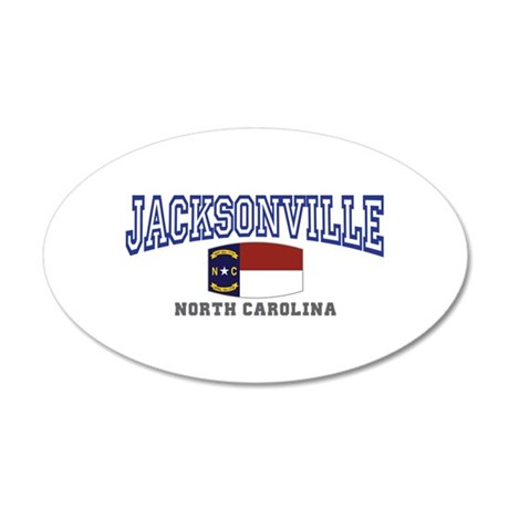 Jacksonville, North Carolina 20x12 Oval Wall Decal