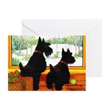 A Scotty Dog Christmas Greeting Cards (Pk of 10)
