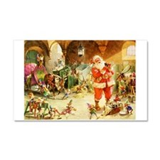Santa in the North Pole Stables Car Magnet 20 x 12