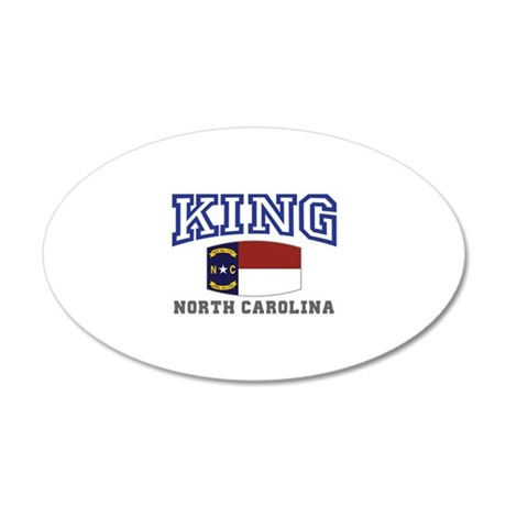 King, North Carolina 20x12 Oval Wall Decal