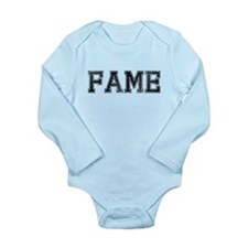 FAME, Vintage Long Sleeve Infant Bodysuit