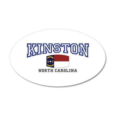 King, North Carolina 35x21 Oval Wall Decal