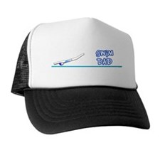 Swim Dad (girl) blue suit Trucker Hat