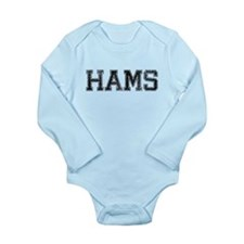 HAMS, Vintage Long Sleeve Infant Bodysuit