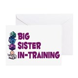 Funny I am the big sister Greeting Cards (Pk of 10)