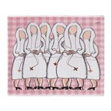 nun blanket pink.PNG Throw Blanket