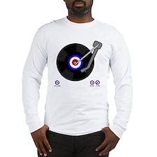 Retro Mod vinyl record Player Long Sleeve T-Shirt
