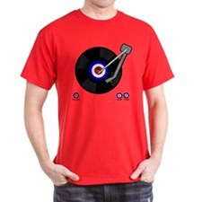 Retro Mod vinyl record Player T-Shirt