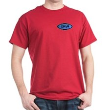 Swim (oval) Black T-Shirt