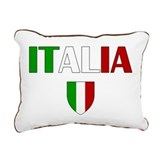 Italia Logo Rectangular Canvas Pillow