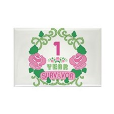 BCA 1 Year Survivor Rectangle Magnet