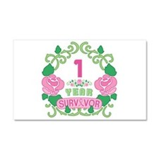 BCA 1 Year Survivor Car Magnet 20 x 12