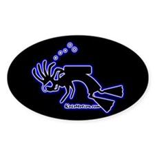Kokopelli SCUBA Diver Oval Decal