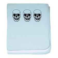 Tripple Skulls baby blanket