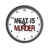 Meat Is Murder Veg*n Wall Clock