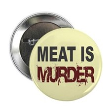 "Meat Is Murder Veg*n 2.25"" Button (100 pack)"