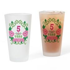 BCA 5 Year Survivor Drinking Glass