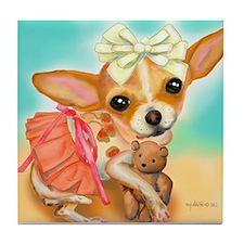 Chihuahua Princess Tile Coaster