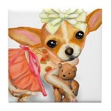 Chihuahua Princess Tile Coaster