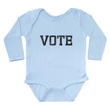VOTE, Vintage Long Sleeve Infant Bodysuit
