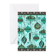 Green Tint Ornaments Greeting Cards (Pk of 20)