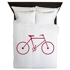 Red and White Cycling Queen Duvet