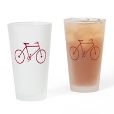 Red and White Cycling Drinking Glass